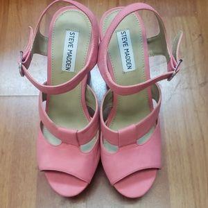 Steve Madden Westt Pink Heels Size 9.5